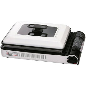 【送料無料】イワタニ CB-GHP-A ホワイト&ブラック カセットガスホットプレート焼き上手さんα [カセットガスホットプレート]