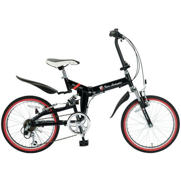 【送料無料】ランボルギーニ TL-207-BK ブラック [折りたたみ自転車(20インチ・6段変速)]【同梱配送不可】【代引き不可】【本州以外の配送不可】