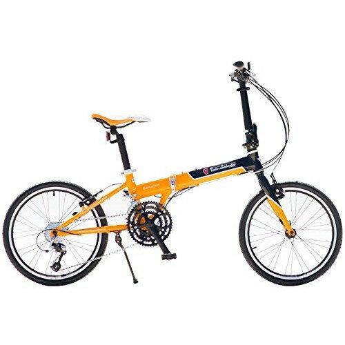 【送料無料】ランボルギーニ TL2006 ブラック/オレンジ [折りたたみ自転車(20インチ・27段変速・フレーム270mm)]【同梱配送不可】【代引き不可】【本州以外の配送不可】
