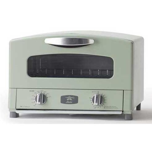 【送料無料】アラジン トースター グリーン 2枚焼き CAT-GS13AG [グラファイトトースター] 遠赤グラファイト グリル&トースター ノンフライ調理 グリルパン Aladdin