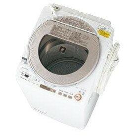洗濯機 シャープ ES-TX9A-N ゴールド系 全自動 タテ型 洗濯乾燥機 9.0kg 節水 穴なし槽 プラズマクラスター ハンガー乾燥 サイクロン洗浄 SHARP