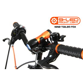 DOPPELGANGER DLF300-DP ブラック×オレンジ [自転車用LEDフロントライト]