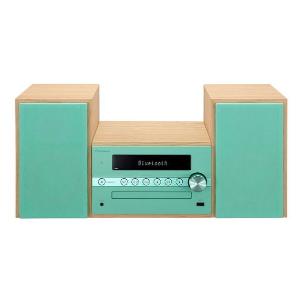 【送料無料】PIONEER X-CM56-GR グリーン [CDミニコンポ(Bluetooth対応・USB端子搭載)]