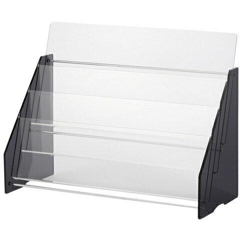 【送料無料】1318-CR-PF23 アクリルパンプレット台 透明