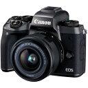 【送料無料】CANON EOS M5 EF-M15-45 IS STM レンズキット [ミラーレス一眼カメラ(2420万画素)]