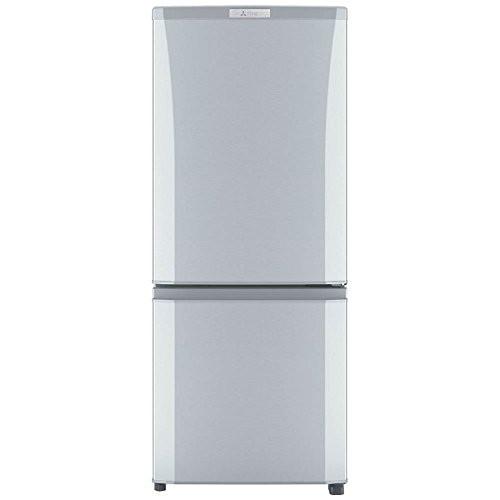 【送料無料】MITSUBISHI MR-P15A-S ピュアシルバー [冷蔵庫 (146L・右開き)] シルバー 三菱 小型 2ドア 自動霜取り
