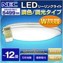 【送料無料】NEC HLDCKD1292SG LIFELED'S [洋風LEDシーリングライト(〜12畳/調色・調光) リモコン付き サークルタイプ]