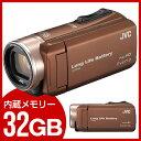 【送料無料】JVC (ビクター/VICTOR) GZ-F200-T ライトブラウン Everio(エブリオ) [フルハイビジョンメモリービデオカメラ(32GB)...