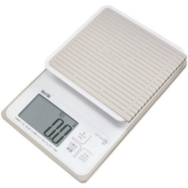 【送料無料】クッキングスケール はかり タニタ KW-320 ホワイト TANITA KW320 ホワイト デジタル キッチンスケール 防水仕様 量り お菓子作り パン作り mLモード(水や牛乳も量れる) 微量モード 0.1g単位 (0〜300g) KW320