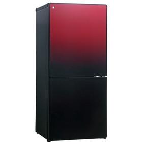 【送料無料】冷蔵庫 2ドア 霜取り不要 小型 一人暮らし 新生活 右開き ガラスドア 110l ユーイング UR-FG110J-R ざくろレッド