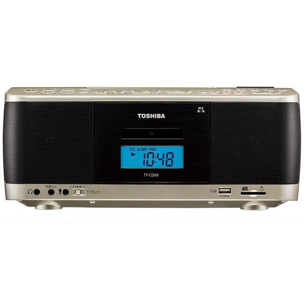 【送料無料】東芝 TY-CDX9 サテンゴールド [CDラジカセ(ラジオ+SD+USBメモリー+CD+カセットテープ)]
