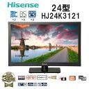 【送料無料】Hisense ハイセンス HJ24K3121 [液晶テレビ 24型 ダブルチューナー Wチューナー 24インチ 外付けHDD 3波 小型 モニター...