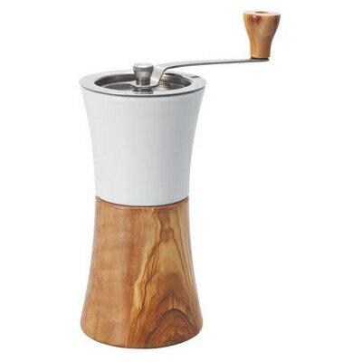 【送料無料】HARIO MCW-2-OV オリーブウッド [セラミック コーヒーミル・ウッド] ハリオ 木製 ホッパー ナチュラル 水洗い 珈琲