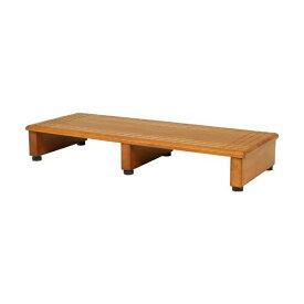 玄関台 踏み台 幅90cm シンプル ブラウン 天然木 完成品 不二貿易 88990