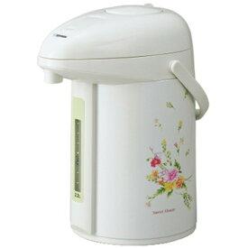 象印 AB-RX22-FY ナチュラルブーケ 押すだけポット [ガラスエアーポット (2.2L)] 魔法瓶 保温 保冷 傾斜湯もれ防止 中せんなし お手入れ簡単