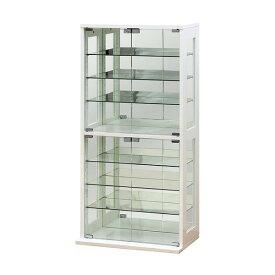 コレクションケース ショーケース コレクションボード ガラス フィギュア 収納 ホワイト クロシオ 組立
