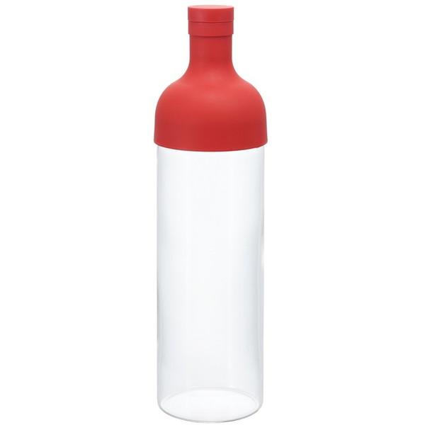 HARIO FIB-75-R レッド フィルターインボトル [水出し茶ボトル (750ml)] ワインボトル型 ハリオ