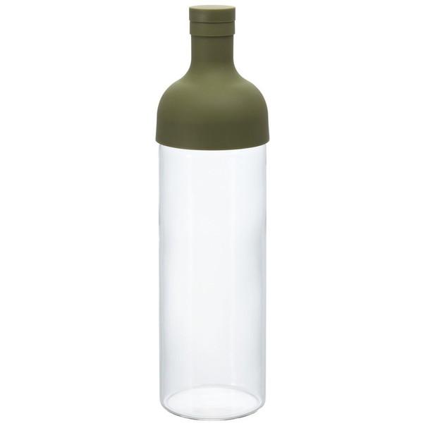 HARIO FIB-75-OG オリーブグリーン フィルターインボトル [水出し茶ボトル (750ml)] ワインボトル型 ハリオ