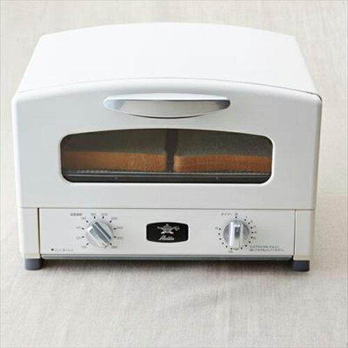 【送料無料】Aladdin(アラジン)AET-G13N(W)アラジンホワイト[遠赤グラファイトグリル&トースター]4枚焼きノンフライ調理短時間もちもちモチモチ焼くあぶる蒸す温めるにおいが付き軽減グリルパングリルネット