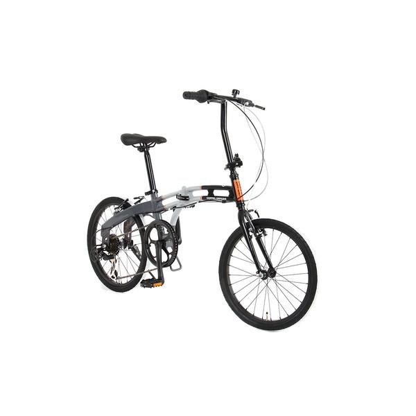 【送料無料】DOPPELGANGER 202-GY ブラックマックスシリーズ [折りたたみ自転車]【同梱配送不可】【代引き不可】【沖縄・北海道・離島配送不可】
