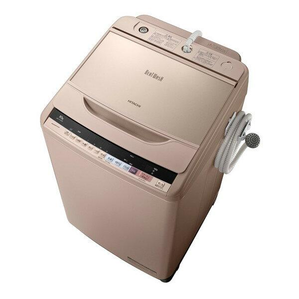 【送料無料】日立 BW-V100B-N シャンパン ビートウォッシュ [全自動洗濯機 (洗濯10.0kg)]