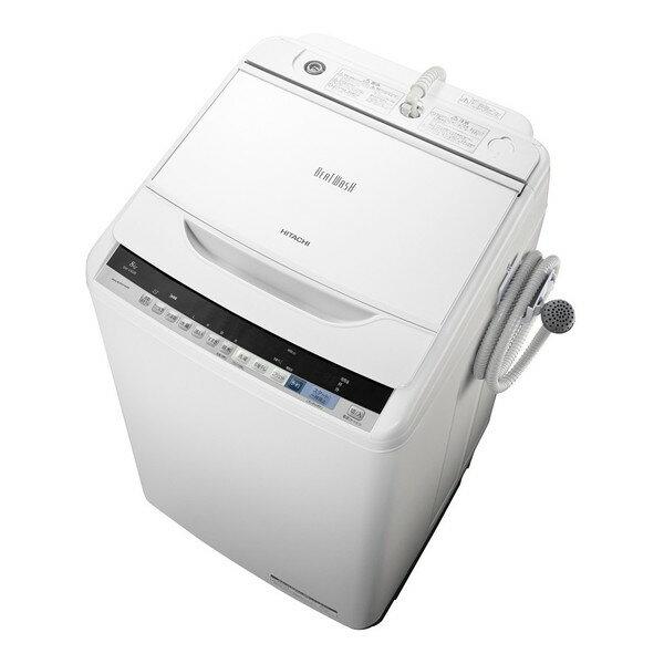 【送料無料】日立 BW-V80B-W ホワイト ビートウォッシュ [全自動洗濯機 (洗濯8.0kg)]