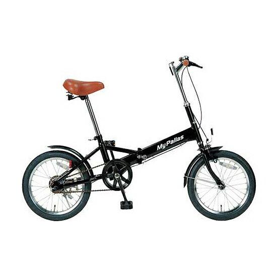 【送料無料】マイパラス M-101-BK ブラック [折りたたみ自転車(16インチ)]