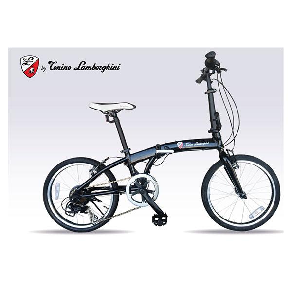 【送料無料】ランボルギーニ TL-212-BK ブラック [折りたたみ自転車 (7段変速 20インチ)]【同梱配送不可】【代引き不可】【本州以外の配送不可】