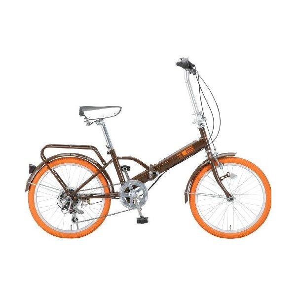 【送料無料】Raychell MF-206RC-BW ブラウン [折りたたみ自転車(20インチ・6段変速)]【同梱配送不可】【代引き不可】【沖縄・離島配送不可】