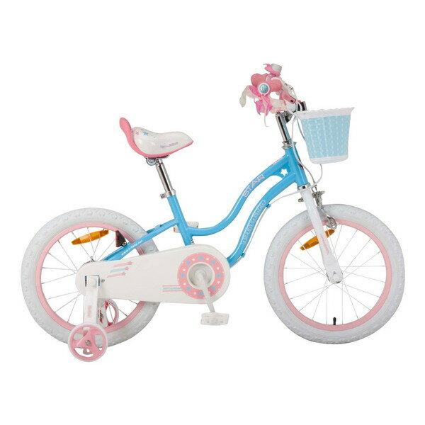 【送料無料】ROYAL BABY RB-WE STAR GIRL 16 blue (35992) [子供用自転車(16インチ)補助輪付き] 【同梱配送不可】【代引き・後払い決済不可】【沖縄・北海道・離島配送不可】