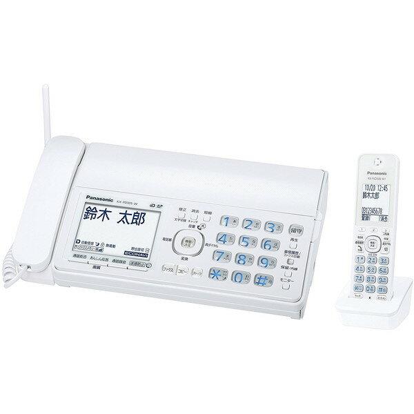 【送料無料】PANASONIC KX-PD305DL-W ホワイト おたっくす [デジタルコードレス普通紙ファクス (子機1台付き)]