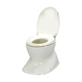アロン化成 534-123 アイボリー [ サニタリーエースHG 据置式 ] 簡易トイレ 介護用便座 洋式 介助 介護用品 白 抗菌加工 O型便座カバー 534123