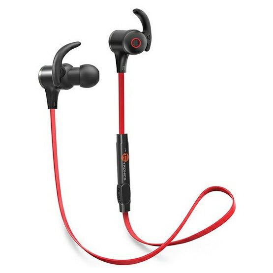 TaoTronics タオトロニクス ブルートゥ−ス イヤホン 人気 Bluetooth 高音質 4.1ステレオ 軽量 ワイヤレス スマートホン iPhone ハンズフリー 通話対応 低音 スポーツ ランニング ジョギング マグネット ネックレス マイク ランニング 赤 レッド TT-BH07