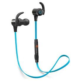 TaoTronics タオトロニクス ブルートゥ−ス イヤホン 人気 Bluetooth 高音質 4.1ステレオ 軽量 ワイヤレス スマートホン iPhone ハンズフリー 通話対応 低音 スポーツ ランニング ジョギング マグネット ネックレス マイク ランニング 青 ブルー TT-BH07