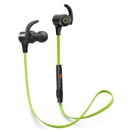 TaoTronics タオトロニクス ブルートゥ−ス イヤホン 人気 Bluetooth 高音質 4.1ステレオ 軽量 ワイヤレス スマートホン iPhone ハンズフリー 通話対応 低音 スポーツ ランニング ジョギング マグネット ネックレス マイク ランニング 緑 グリーン TT-BH07