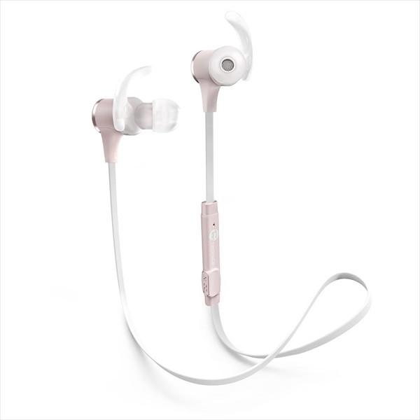 TaoTronics タオトロニクス ブルートゥ−ス イヤホン 人気 Bluetooth 高音質 4.1ステレオ 軽量 ワイヤレス スマートホン iPhone ハンズフリー 通話対応 低音 スポーツ ランニング ジョギング マグネット ネックレス マイク ランニング ピンク TT-BH07