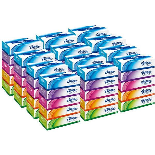 【ケース販売】 クリネックス ティッシュ 360枚(180組)×5箱パック×12パック
