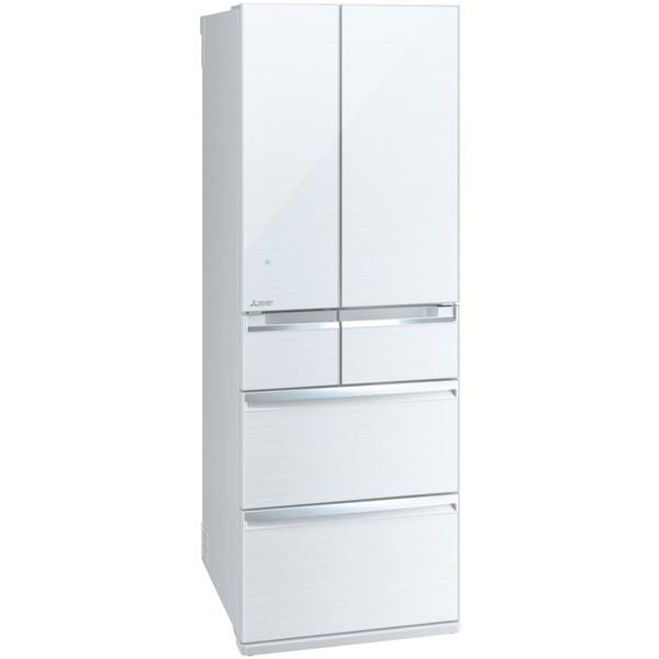 【送料無料】三菱 冷蔵庫 500l 520l MITSUBISHI MR-WX52C-W 白 大容量 クリスタルホワイト 置けるスマート大容量 スリム 幅65cm WXシリーズ [冷蔵庫 (517L・フレンチドア)] 薄型断熱構造「SMART CUBE」搭載 MRWX52CW