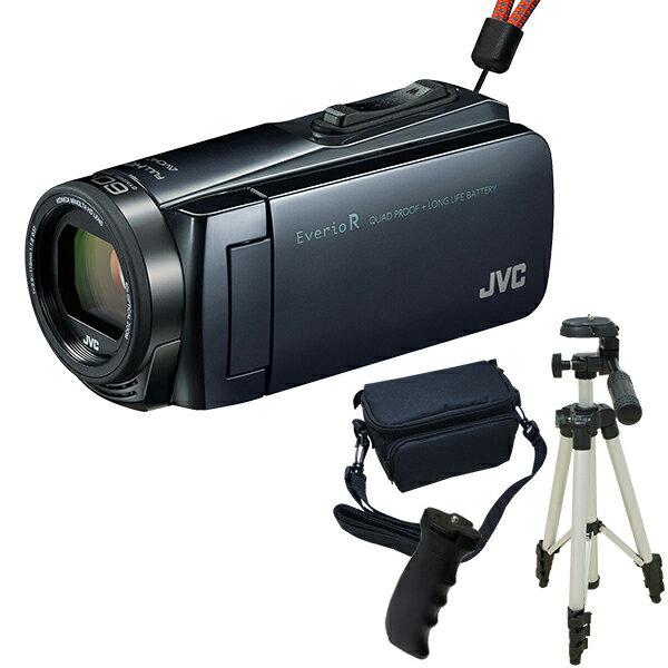 【送料無料】JVC(ビクター) ビデオカメラ 32GB GZ-R470-H アイスグレー Everio R 三脚&バッグ&バッテリーグリップセット 長時間録画 旅行 成人式 卒園 入園 卒業式 入学式に必要なもの 結婚式 出産 アウトドア 学芸会 小型 コンパクト 小さい