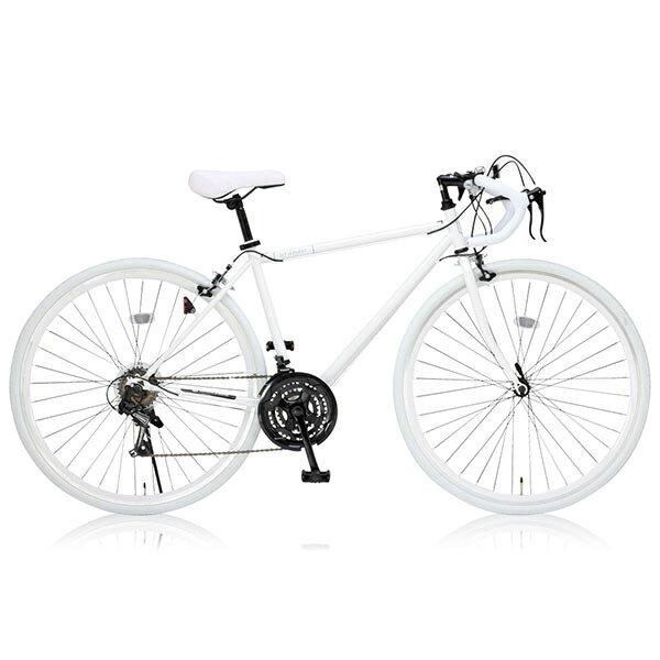 【送料無料】Grandir Sensitive ホワイト [ロードバイク(700×28C・21段変速・フレーム470mm)]【同梱配送不可】【代引き・後払い決済不可】【沖縄・北海道・離島配送不可】自転車 通勤 通学 学生 女性おすすめ 初心者