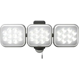 LEDセンサーライト ムサシ LED-AC3036 12W×3灯 RITEX ライテックス コンセント式 フリーアーム式 投光器 コンセント式 防雨タイプ 電源コード3m 赤色LED点滅機能 屋内 屋外 自由自在
