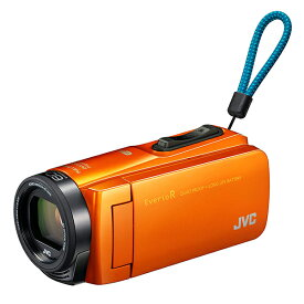 【送料無料】ビデオカメラ JVC ( ビクター / VICTOR ) 64GB 大容量バッテリー GZ-RX670-D サンライズオレンジ 約4.5時間連続使用可能 旅行 成人式 卒園 入園 卒業式 入学式に必要なもの 結婚式 出産 アウトドア 学芸会 小型 小さい