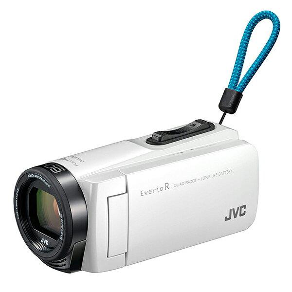 【送料無料】JVC (ビクター/VICTOR) ビデオカメラ 32GB 大容量バッテリー GZ-R470-W シャインホワイト Everio R(エブリオ) 約5時間連続使用可能 旅行 卒園 入園 卒業式 入学式 成人式 結婚式 出産 アウトドア 学芸会 小型 小さい