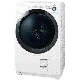 SHARP ES-S7D-WR ホワイト系 [ドラム式洗濯乾燥機 (洗濯7.0kg/乾燥3.5kg) 右開き] 【代引き不可】【離島配送不可】