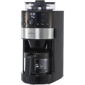 シロカ siroca 全自動コーヒー コーヒーメーカー 珈琲 タイマー付 お手軽 簡単 引き立て 豆から コンパクト SC-C111 ブラック [コーン式全自動コーヒーメーカー] SCC111