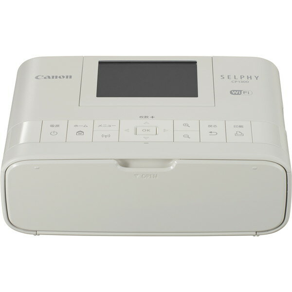 【送料無料】CANON キヤノン CP1300(WH) ホワイト SELPHY(セルフィー) [コンパクトフォトプリンター]