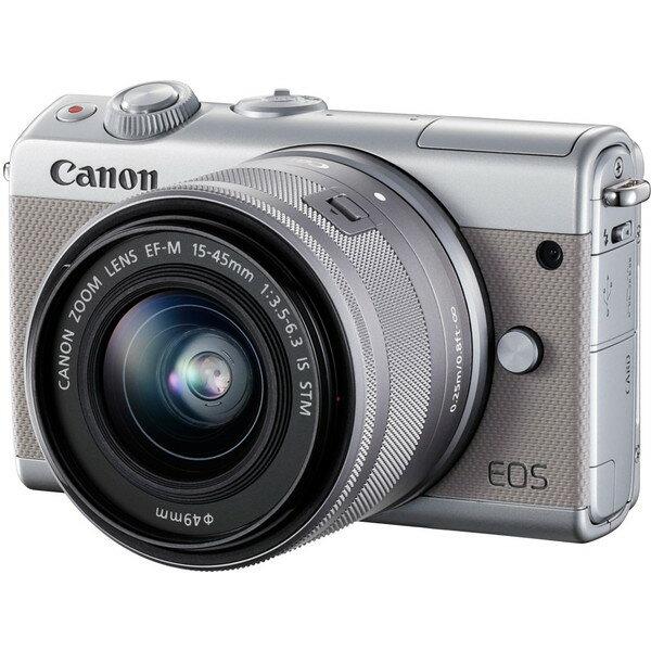 【送料無料】CANON EOS M100 G 15-45 IS グレー [ミラーレス一眼カメラ (2420万画素)]