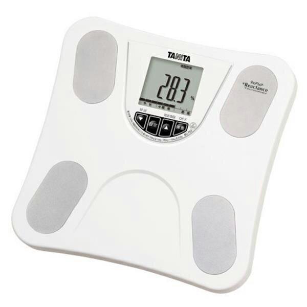 タニタ TANITA 体重計 体組成計 ホワイト 白 体重 体脂肪 内臓脂肪 肥満率 軽量 薄型 シンプル 簡単 正確 BMI 乗るピタ 樹脂 BC753WH