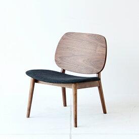 【送料無料】ラウンジチェア ダイニングチェア チェア 椅子 イス 北欧 ウォールナット 木製 おしゃれ リビング ブラウン ダークブラウン チャコールグレー 完成品