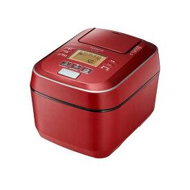 炊飯器 5.5合炊き 日立 HITACHI ふっくら御膳 圧力スチームIHジャー 日本製 少量炊きも 一人暮らし 1人分 単身 極上ひと粒炊き 蒸気カット 全周断熱構造 炊飯ジャー キッチン家電 玄米 RZ-V100CM-R メタリックレッド 赤